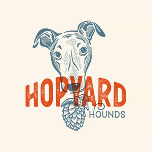 Logo design with the title 'Greyhound + Brewery logo'