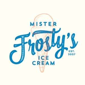 Logo & Squarespace website with the title 'Mister Frosty's Ice cream'