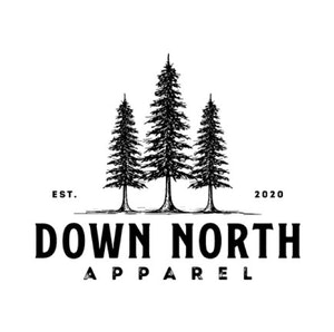 Logo & Squarespace website with the title 'Down North Apparel'