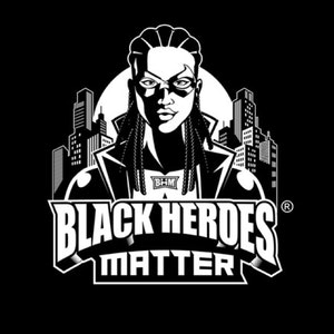 Logo & Squarespace website with the title 'Black Heroes Matter'