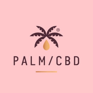 Logo & Squarespace website with the title 'Palm CBD'