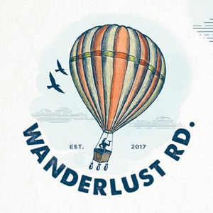 Logo & Squarespace website with the title 'Wanderlust Rd'
